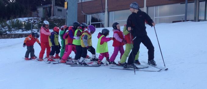 lyžování na Monínci